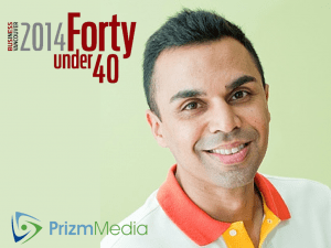 "From College Creation to Leading Health Marketing/Tech Firm: ""Prizm"" Pioneer Zeeshan Hayat lands on BIV ""Forty Under 40"" list."
