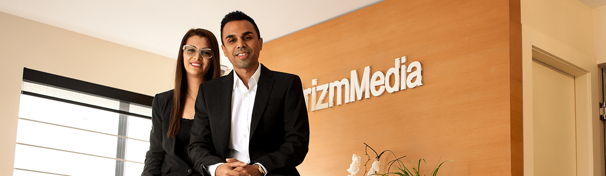 Prizm Media CEO and Co-Founder, Zeeshan and Karina Hayat