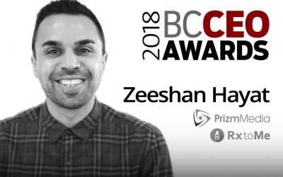 Prizm Media CEO, Zeeshan Hayat, wins 2018 BC CEO Awards