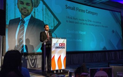 Prizm Media Inc.'s CEO, Zeeshan Hayat wins 2018 BC CEO Award