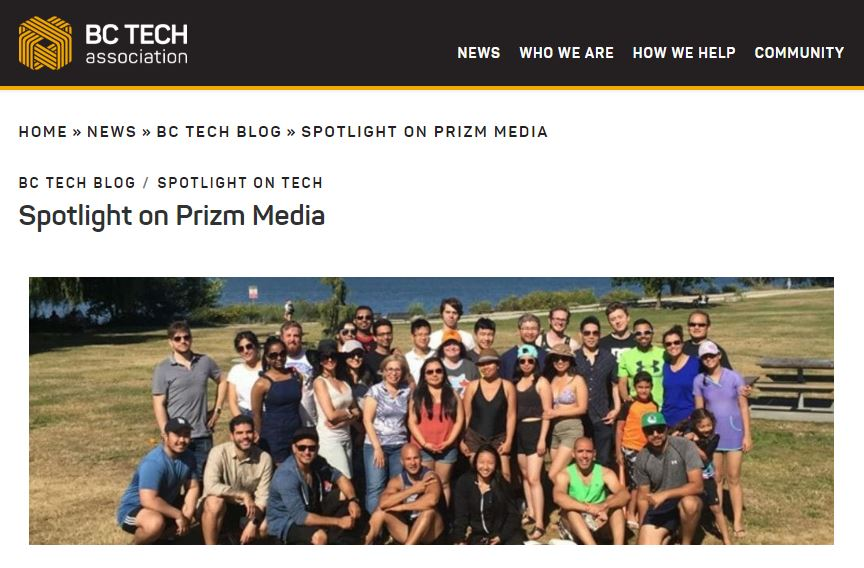 Prizm Media Featured on BC Tech Spotlight Blog!
